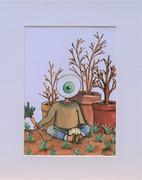 Deborah Levy-K., Kolorierte Zeichnung